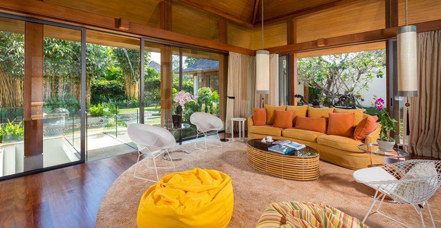 6. Villa Sundara - TV room design