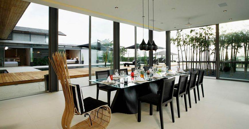 7-Villa Essenza - Dinning area stunning view