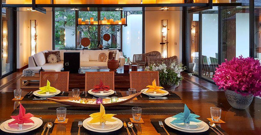 7. Villa Sundara - Colorful table setting