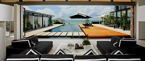Villa Essenza - Poolside covered terrcae