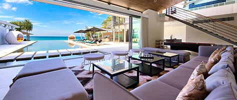 Villa Tievoli - Living area view to pool